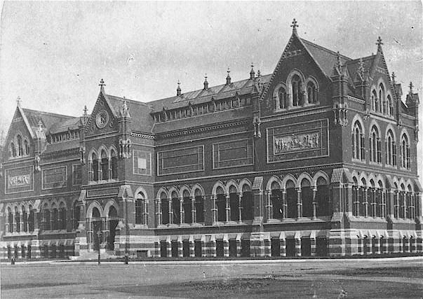 The original Museum of Fine Arts building in Copley Square