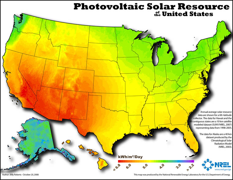 FileNREL USA PV Map Lores Jpg Wikimedia Commons - Solar power map us