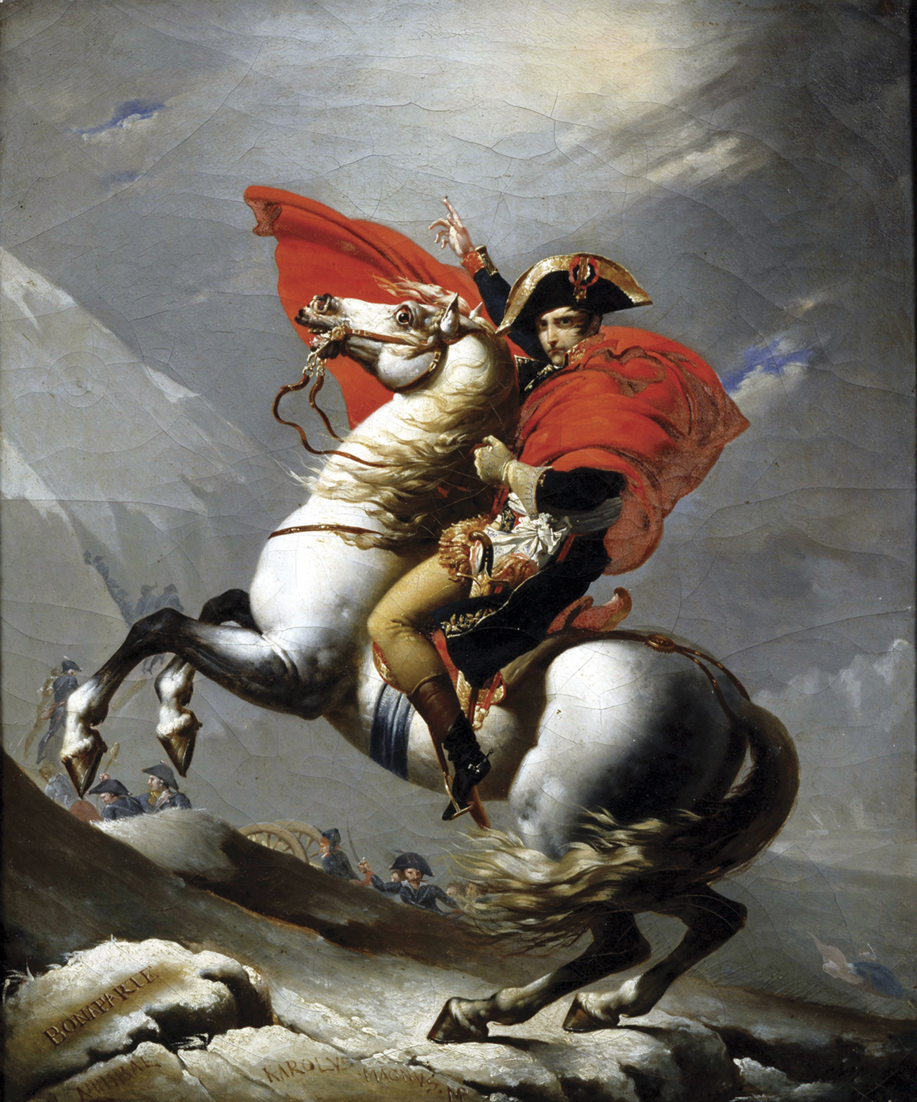 napoleon traversing all the alps painting