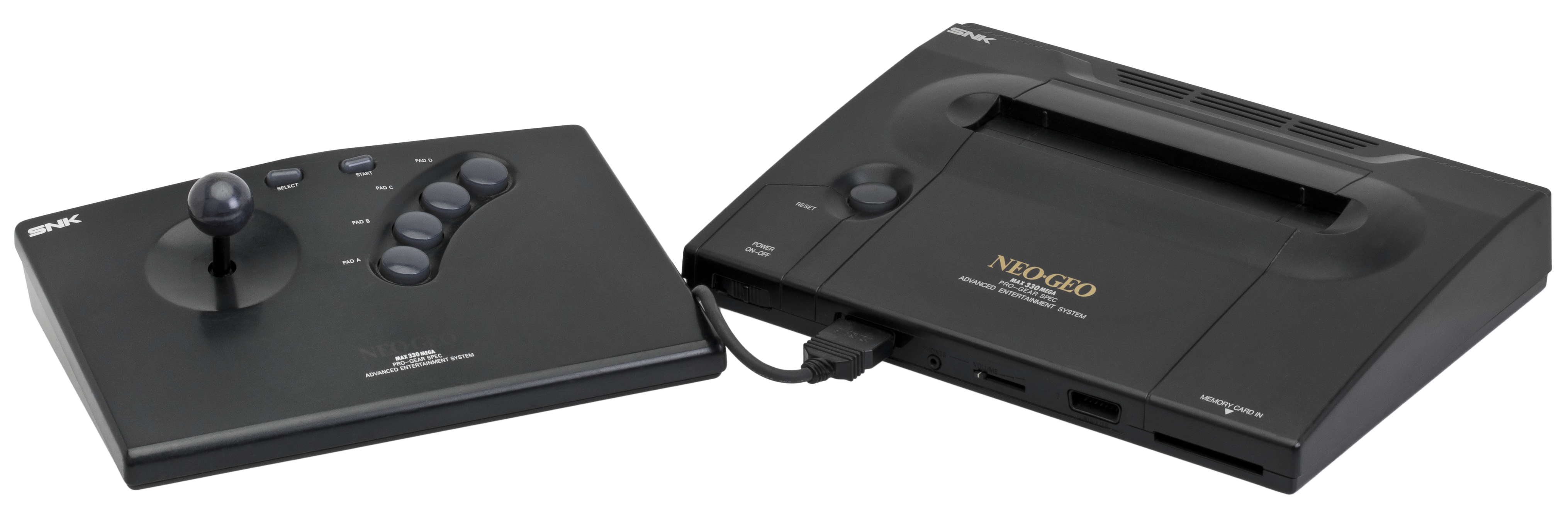 The Neo Geo AES and it's included joystick controller.