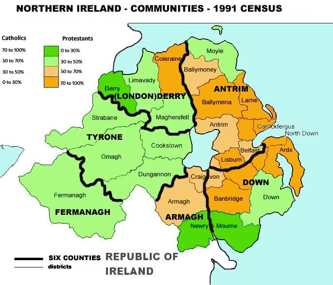 Mapa Irlanda Del Norte.Pocatorta Irlanda Del Norte