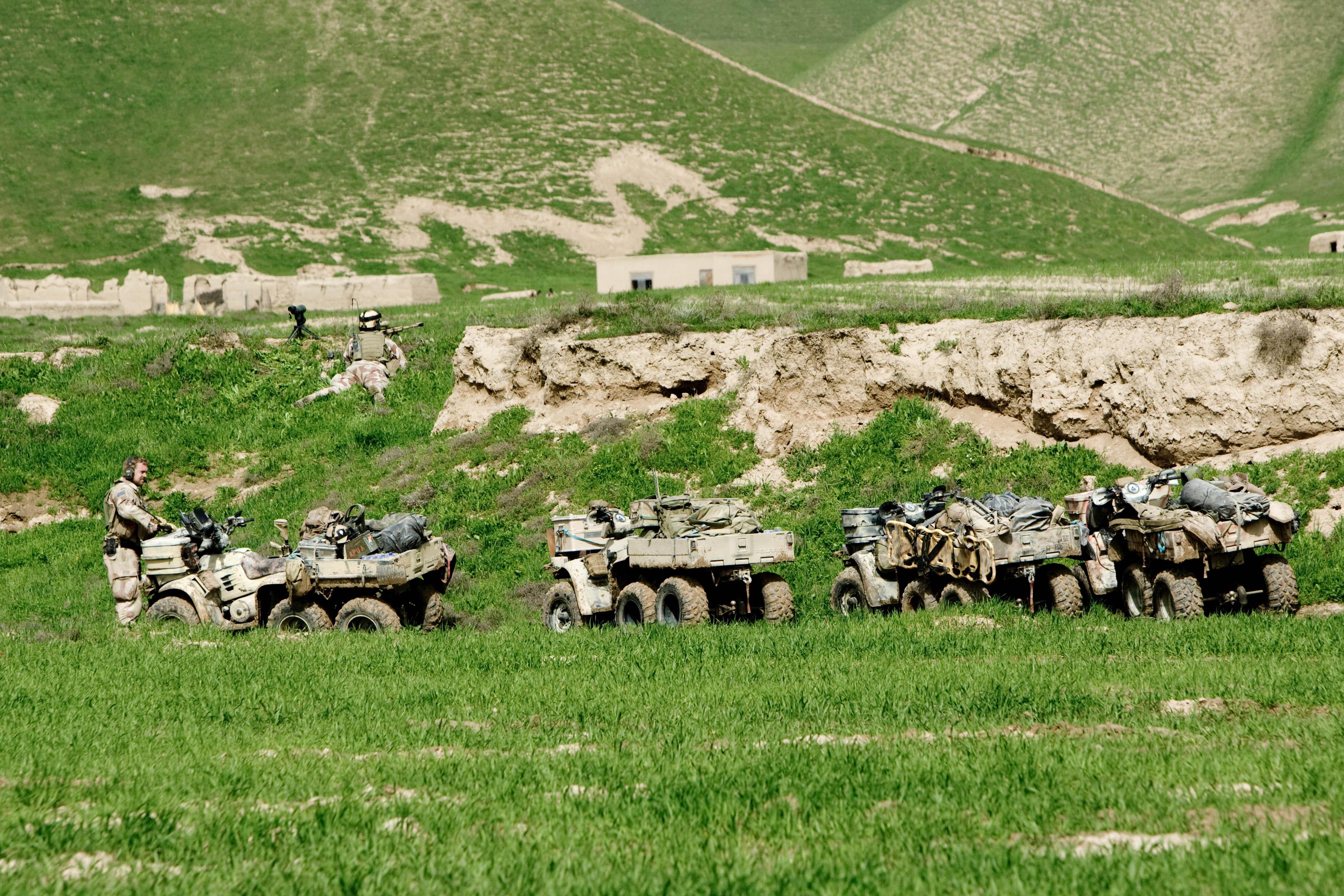 File Norwegian Soldiers Using Atv In Afghanistan Jpg