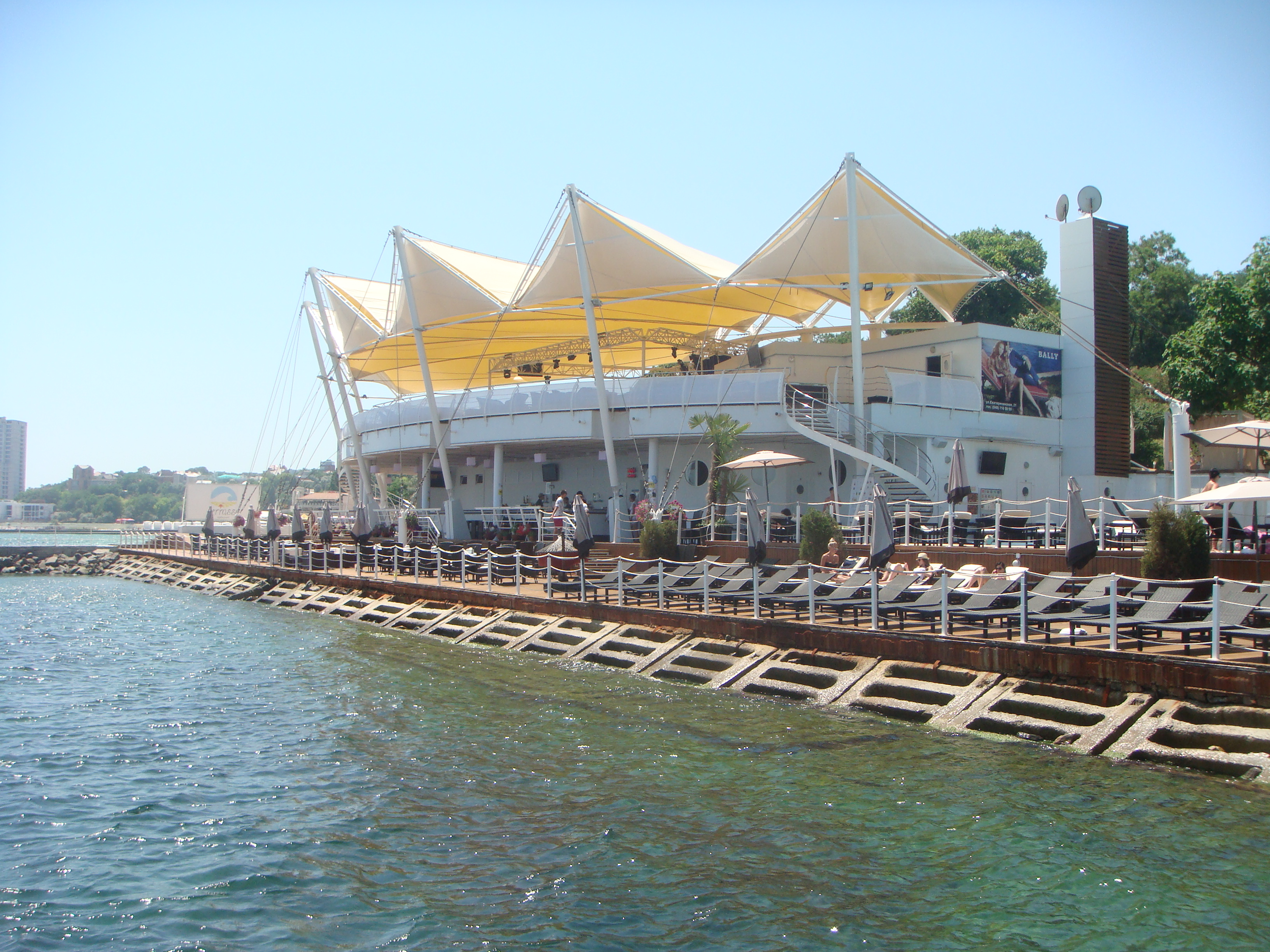 File Odessa Arcadia Plaza Beach Club View From The Sea Jpg