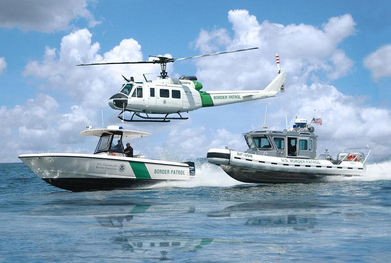 Border control at sea by the U.S. Customs and Border Protection