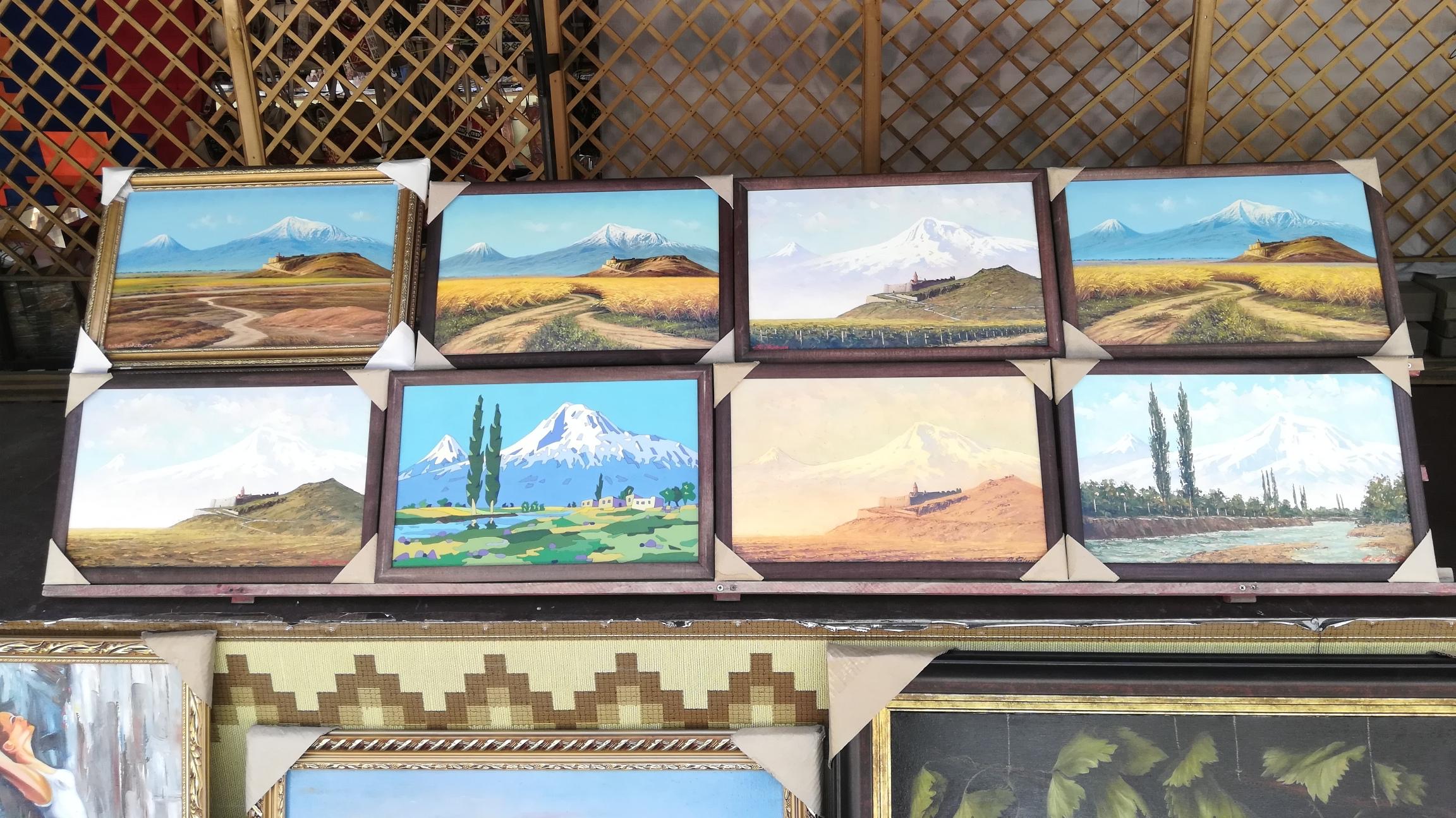 paintings of my ararat at the yerevan vernissage2.jpg