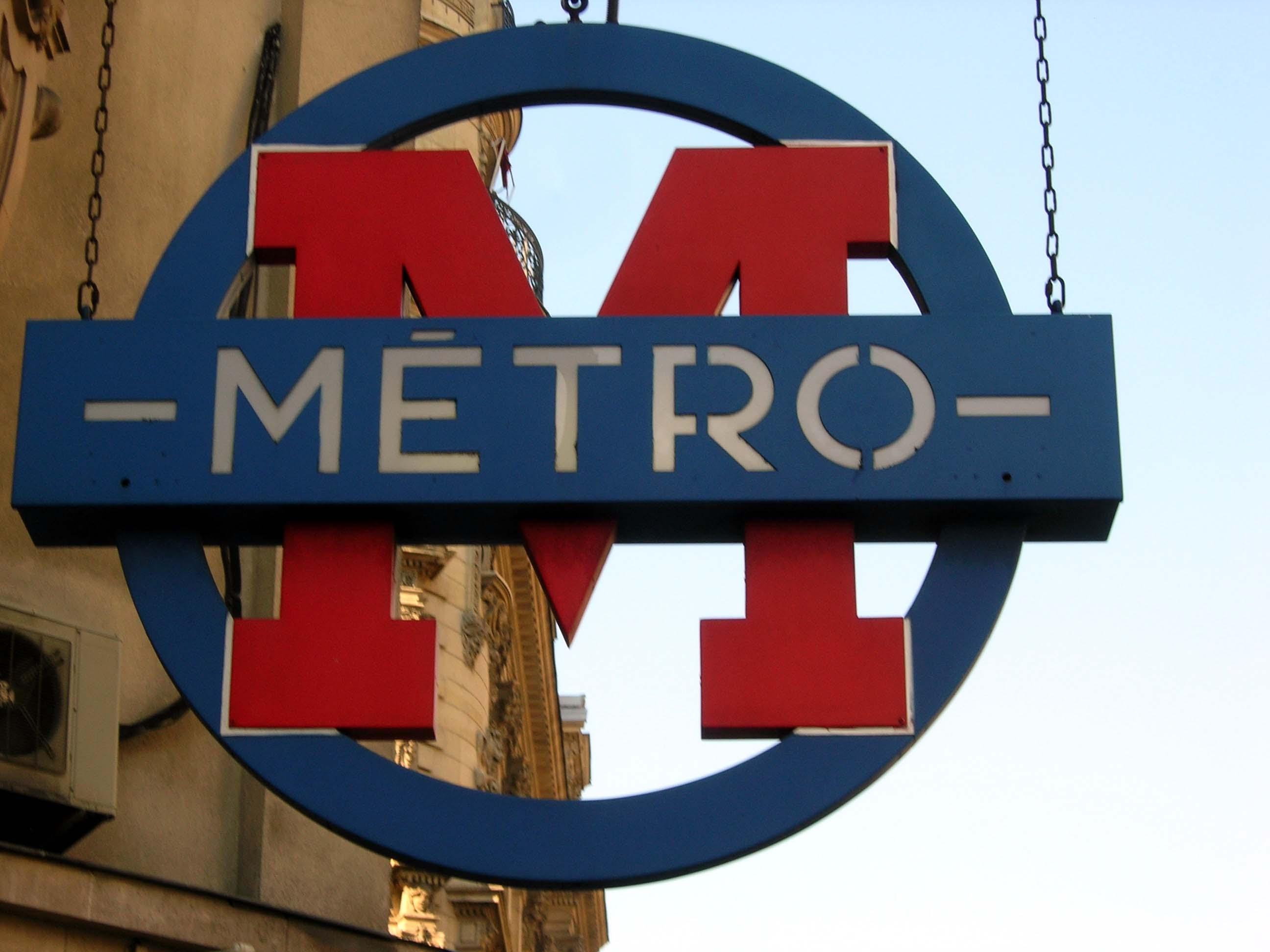 Beschreibung paris metro metro sign