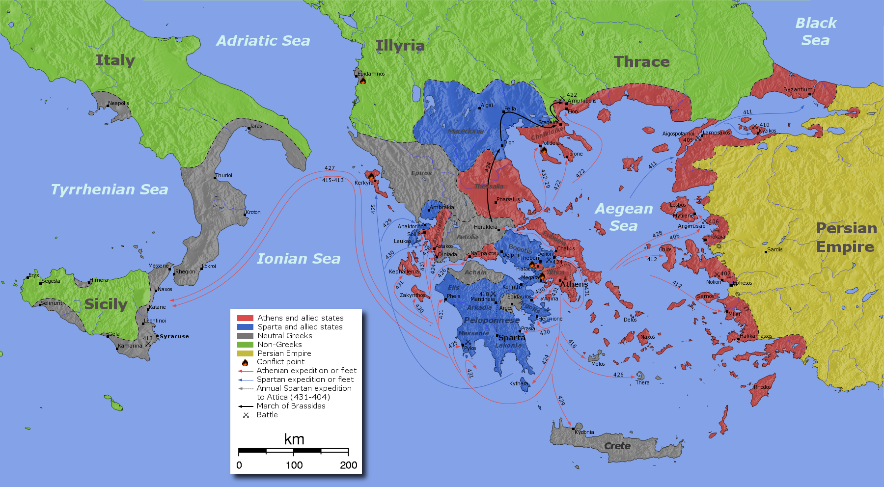 Athens vs. Sparta: The History of the Peloponnesian War 4