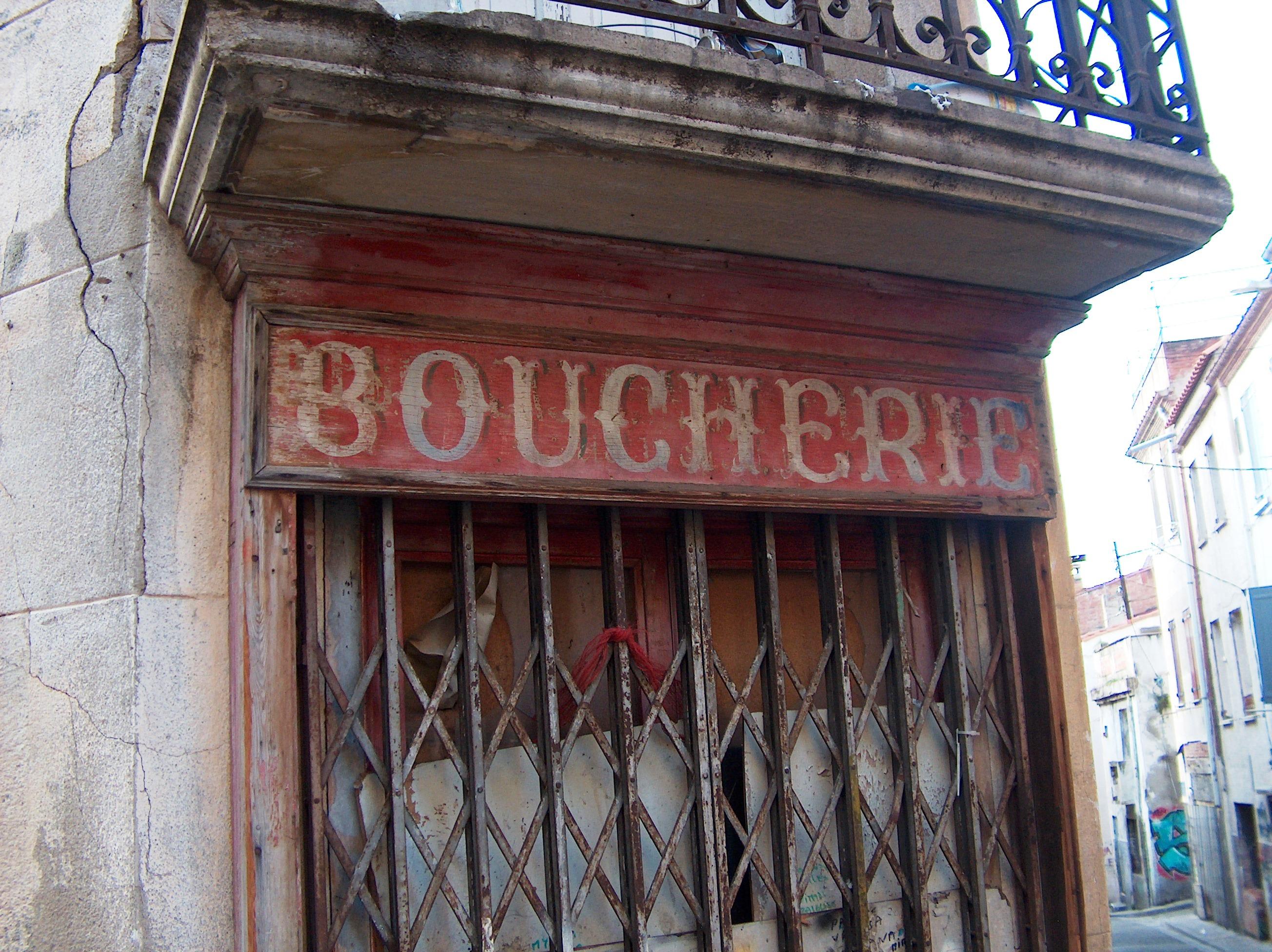 Enseigne Boucherie file:perpignan - enseigne de boucherie quartier saint jacques