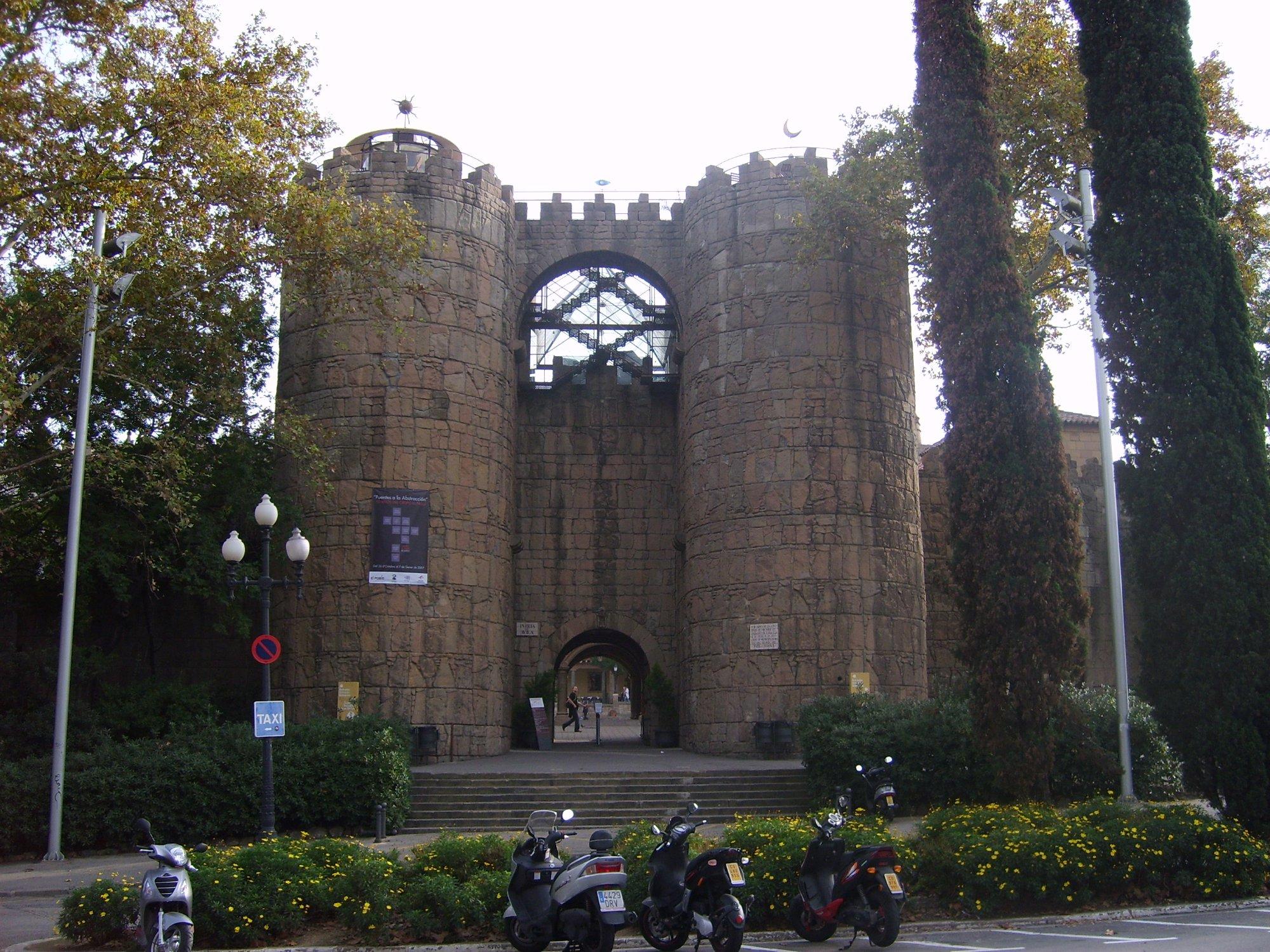 Entrance to Poble Espanyol in Barcelona