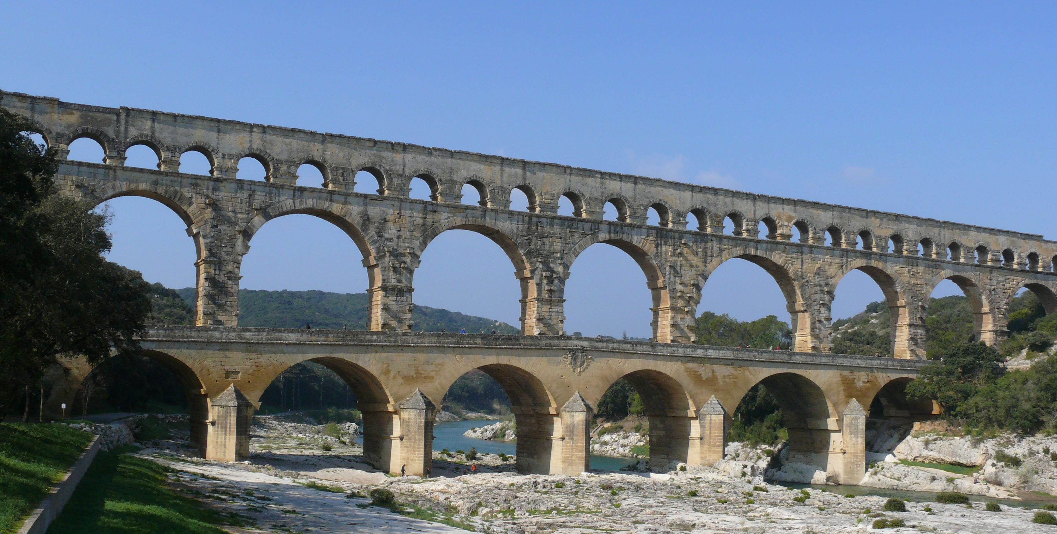 Rhone Cruise by Pont du Gard