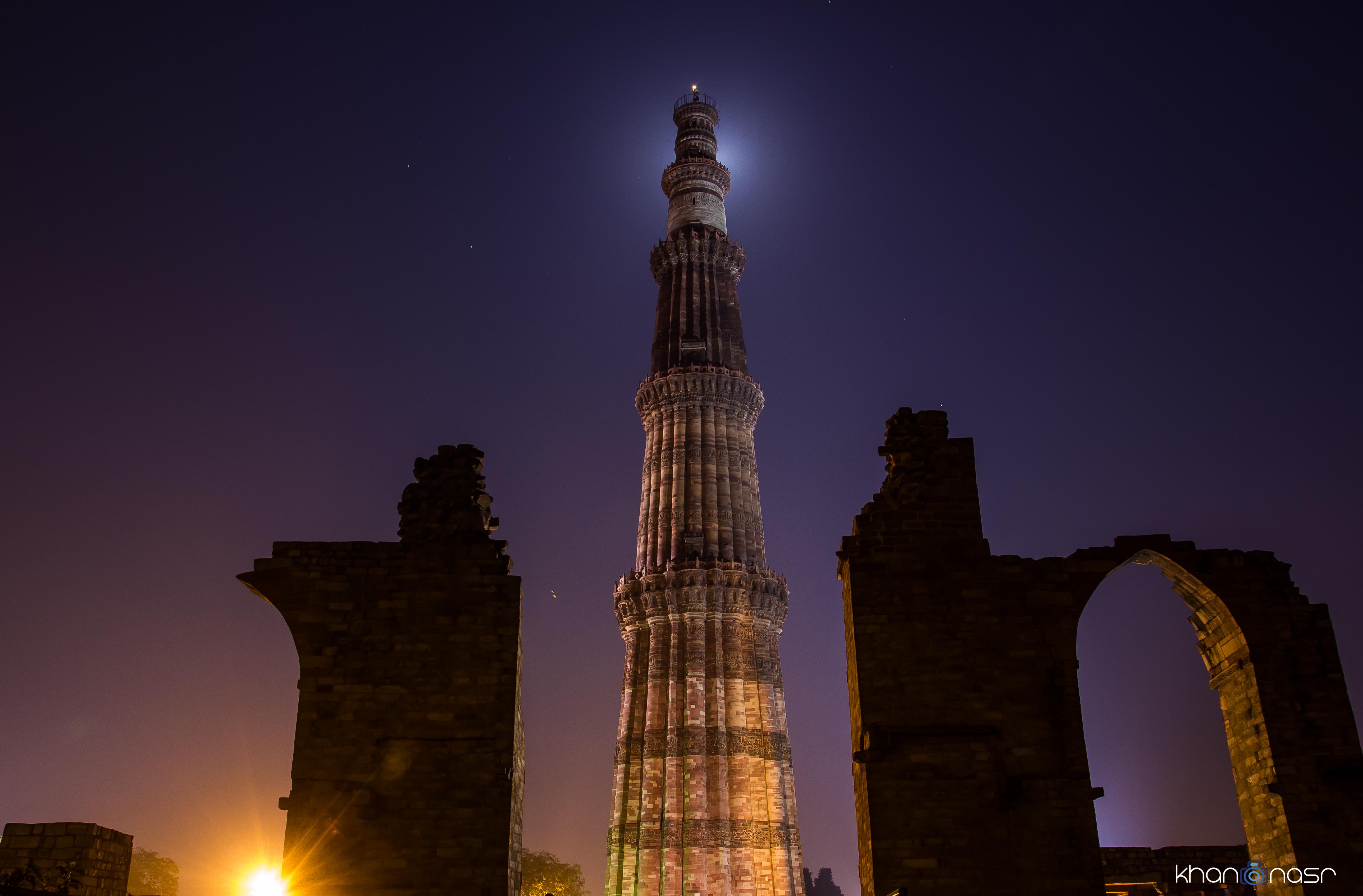 File:Qutab Minar at Night jpg - Wikimedia Commons
