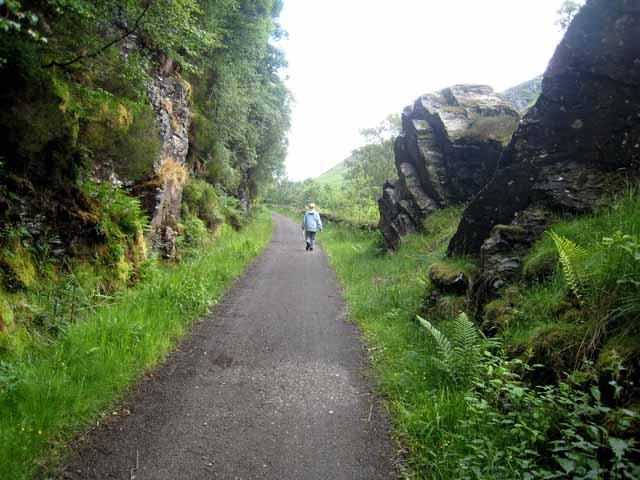 Railway path at Glen Ogle - geograph.org.uk - 873282