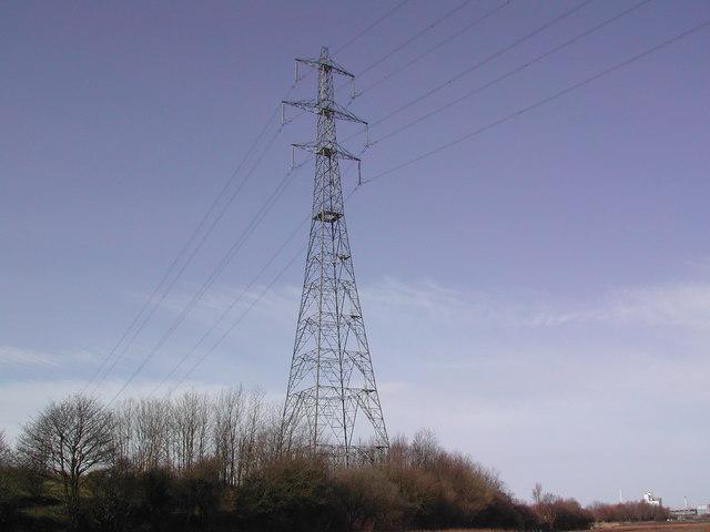 File:River crossing pylon at Stanah - geograph.org.uk - 1226380.jpg