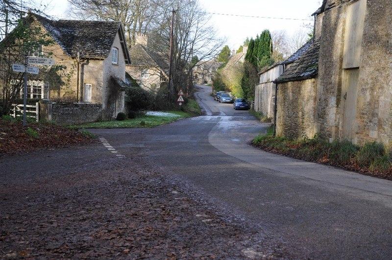 File:Road passing through Woodmancote (geograph 4749480).jpg
