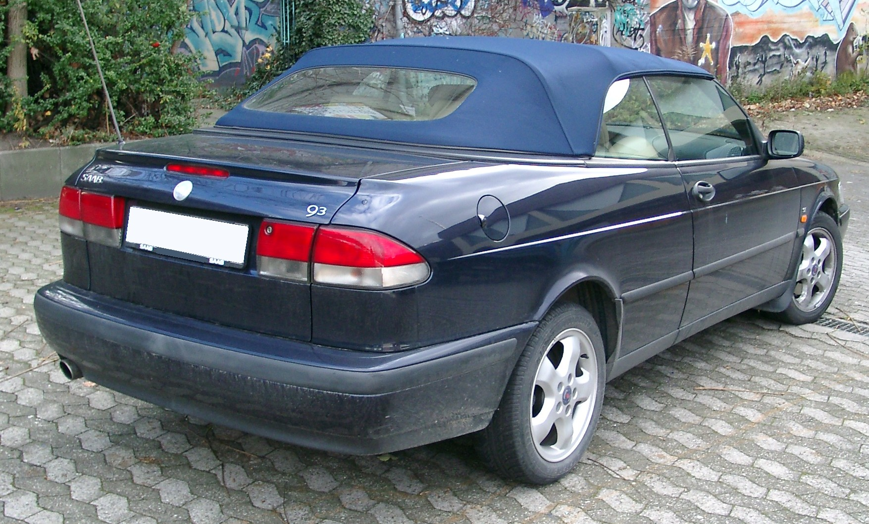 file saab 9 3 cabrio rear