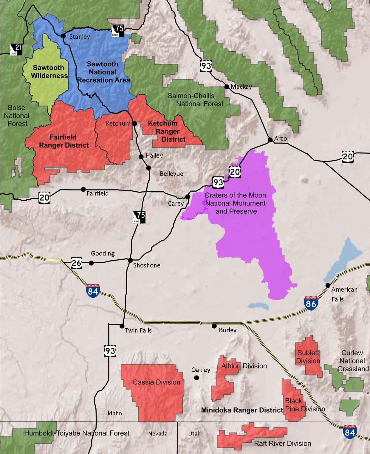 File:Sawtooth National Forest Map with roads.jpg - Wikimedia ... on ketchum idaho road map, meridian idaho road map, big wood river idaho road map, boise idaho road map, warm lake idaho road map, ada county idaho road map, mccall idaho road map,
