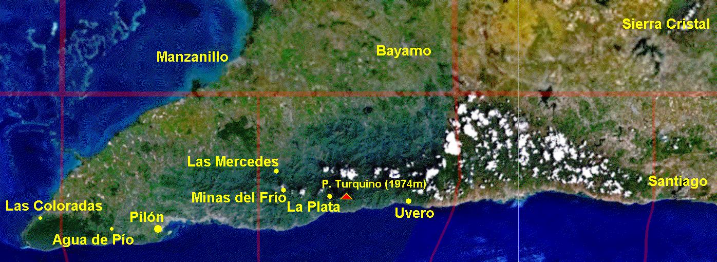 Mapa Sierra Maestra