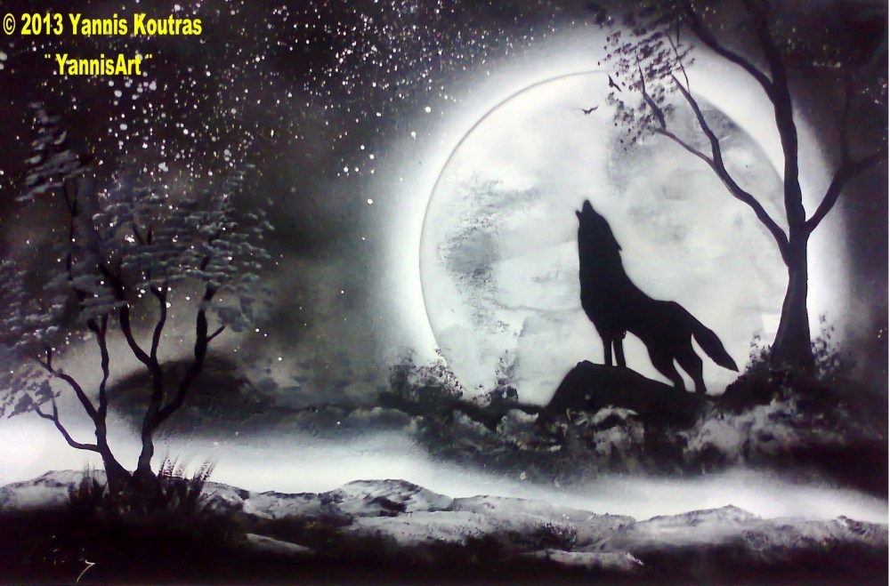 File:Spray paint art by YannisArt Yannis Koutras wolf.black and ...