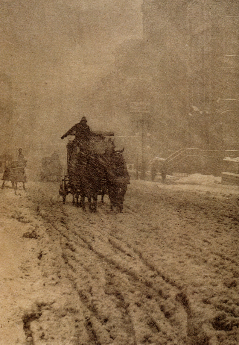 Winter - Fifth Avenue by Alfred Stieglitz, 1892