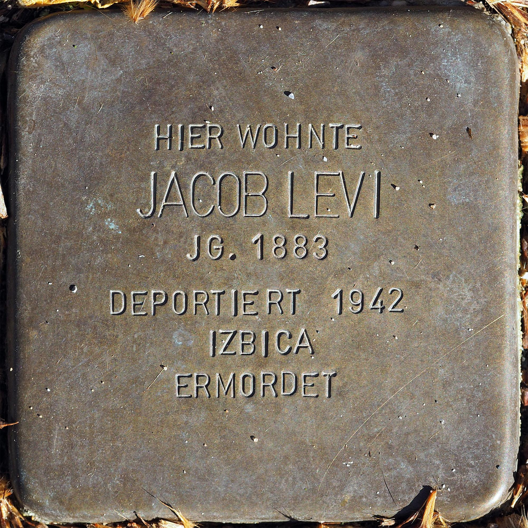 Datei:Stolpersteine MG Levi Jacob.jpg – Wikipedia