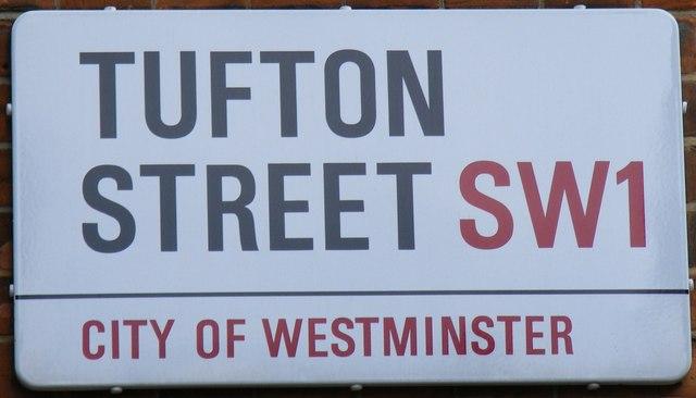 File:Street sign 'Tufton Street' - geograph.org.uk - 1132351.jpg