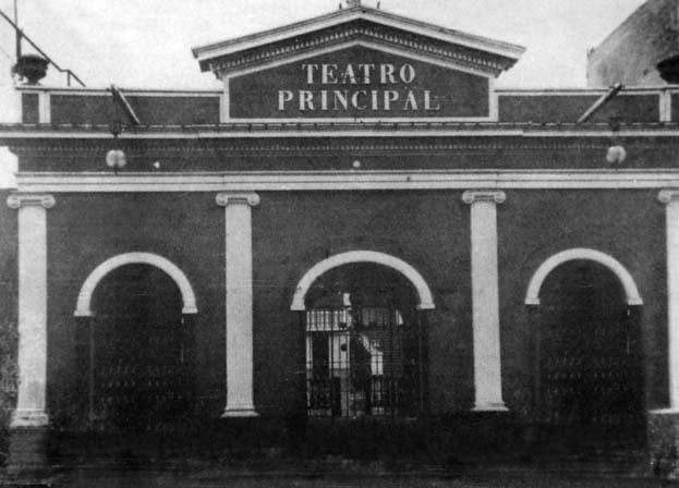 Fachada del Teatro principal de Lima (siglo XIX), luego bautizado como Teatro Segura.