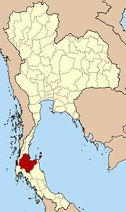 スラートターニー県の位置