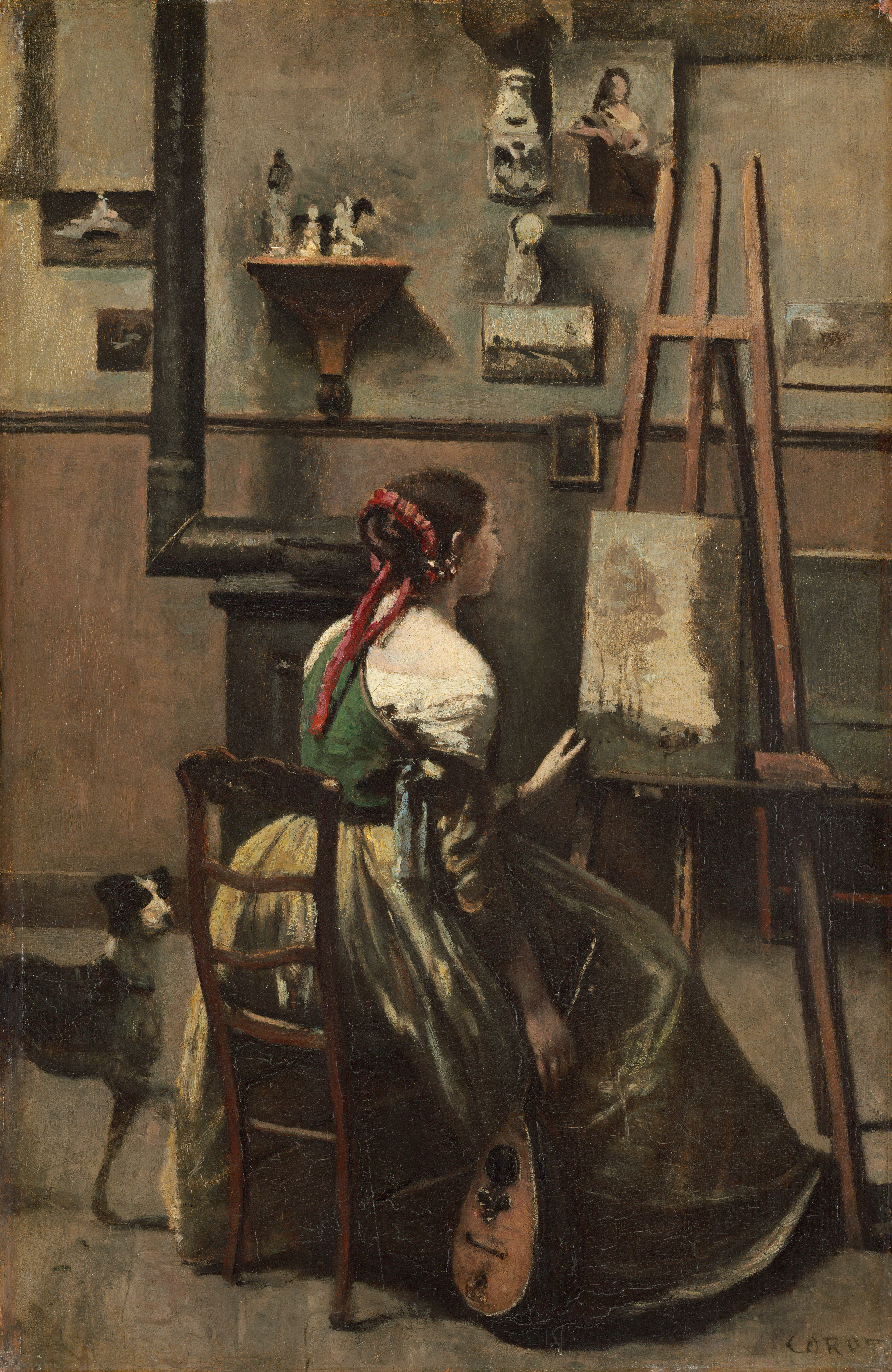 file the artist 39 s studio by jean baptiste camille corot wikimedia commons. Black Bedroom Furniture Sets. Home Design Ideas
