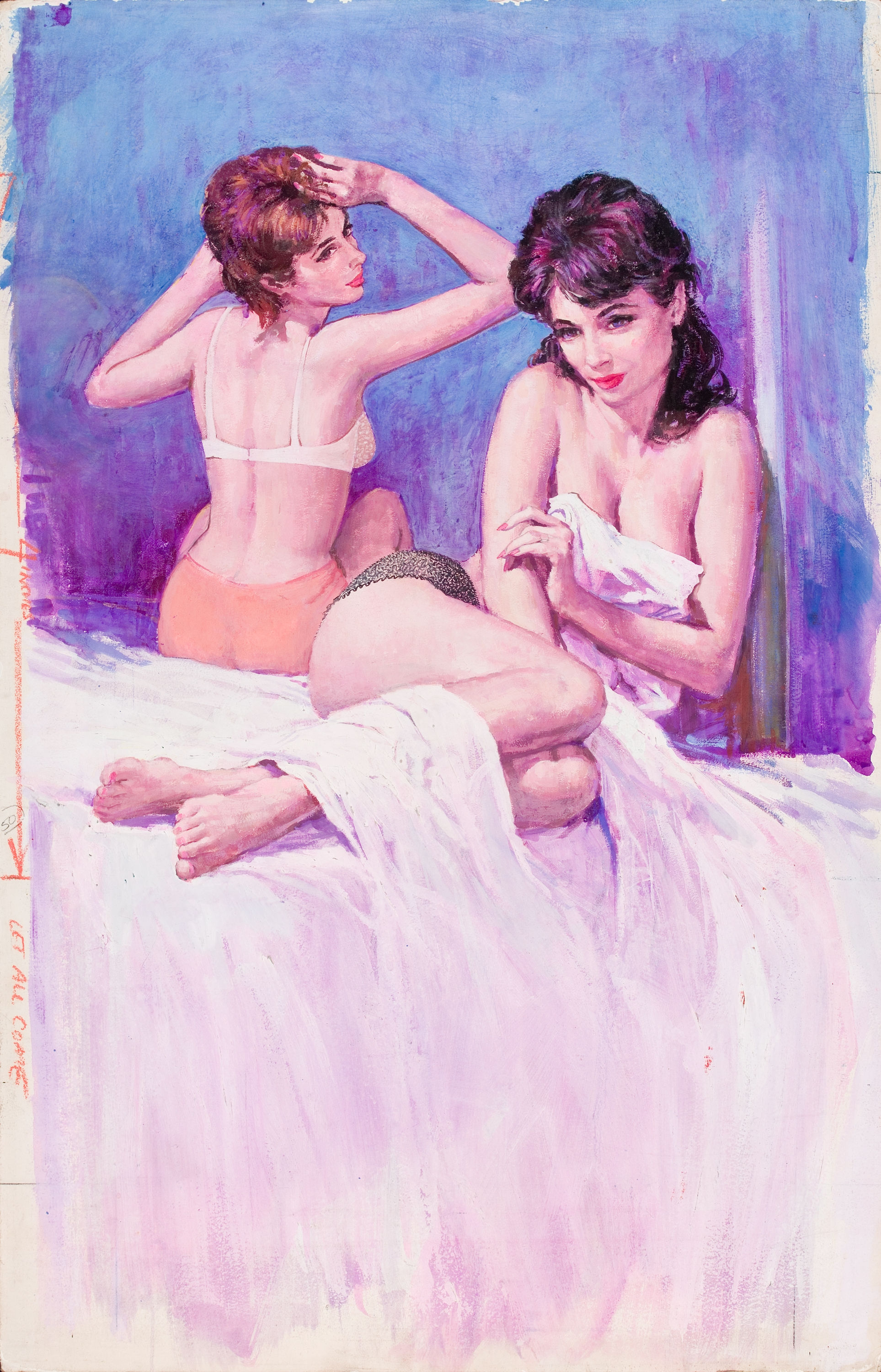 Out From Between The Sheets. Art by Victor Olson, Beacon Signal Books, Public domain via Wikimedia Commons.