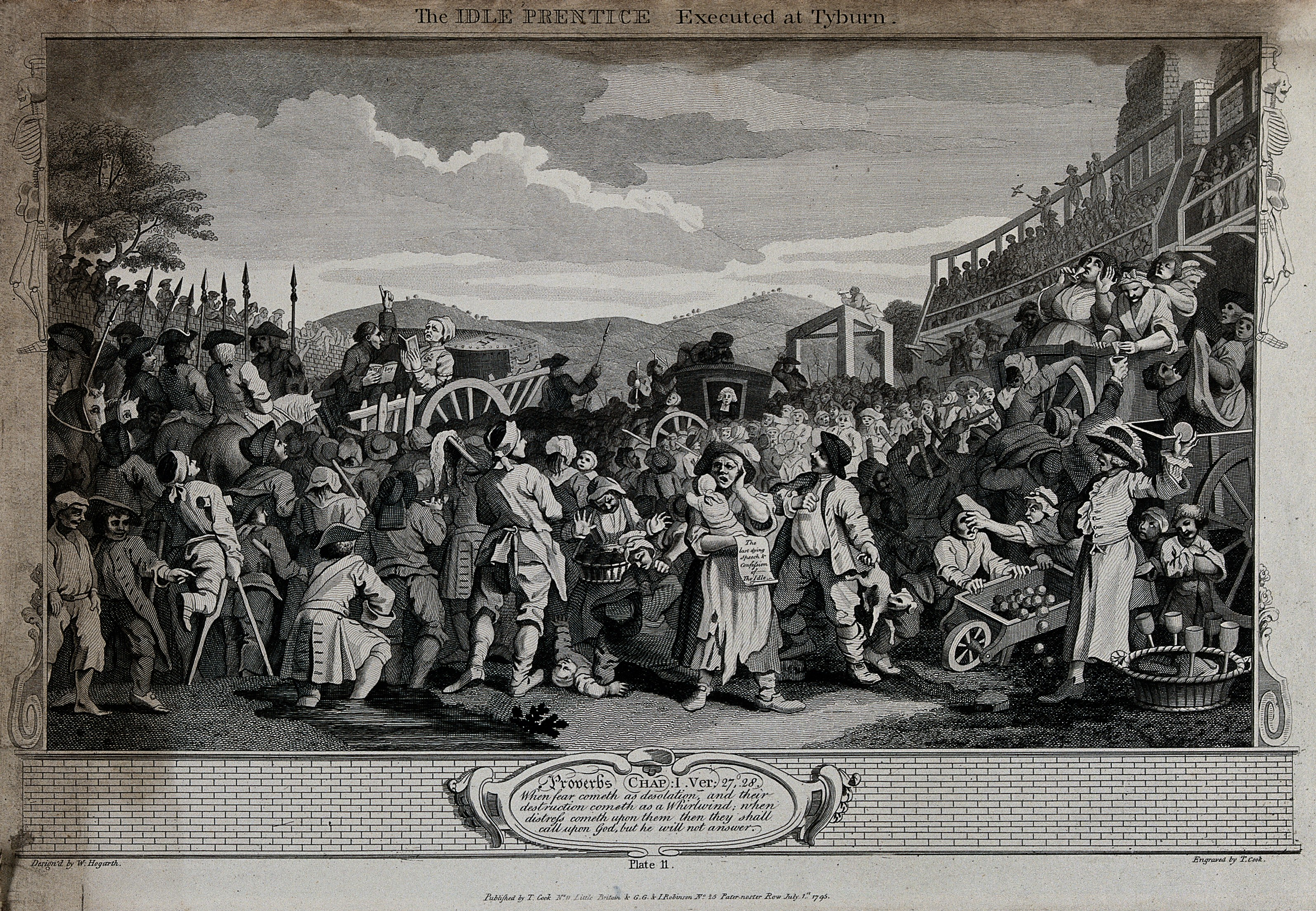 An image of a Tyburn execution from the late 18th century.