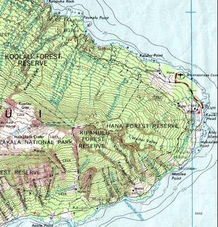 Part of a topographic map of Haleakala (Hawaii), showing elevation. Topomapcropped.jpg
