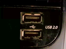 Snapshot of a Front USB port