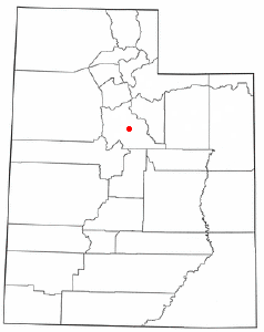 Location of Spanish Fork, Utah