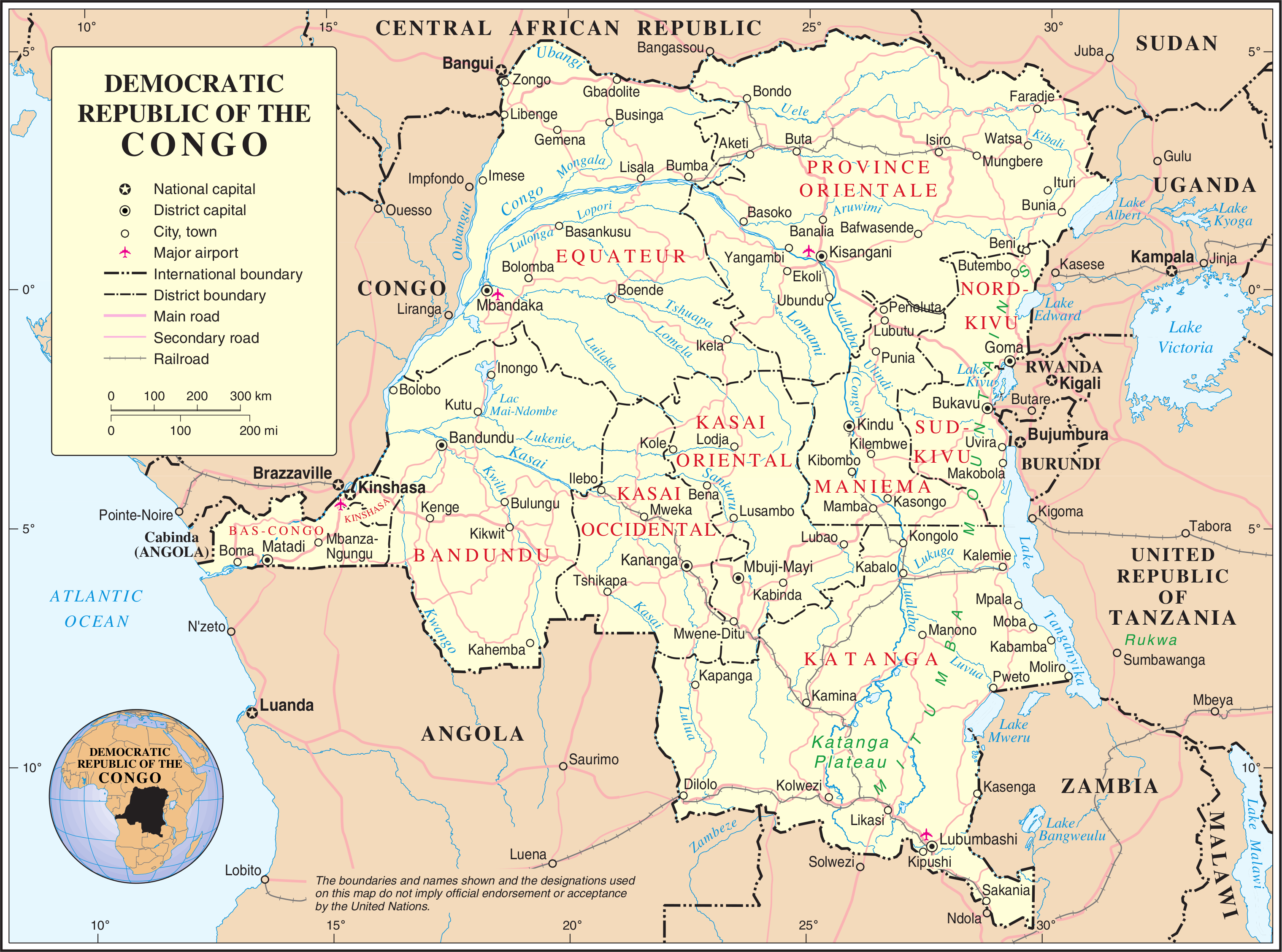 Outline of the Democratic Republic of the Congo - Wikipedia, the ...