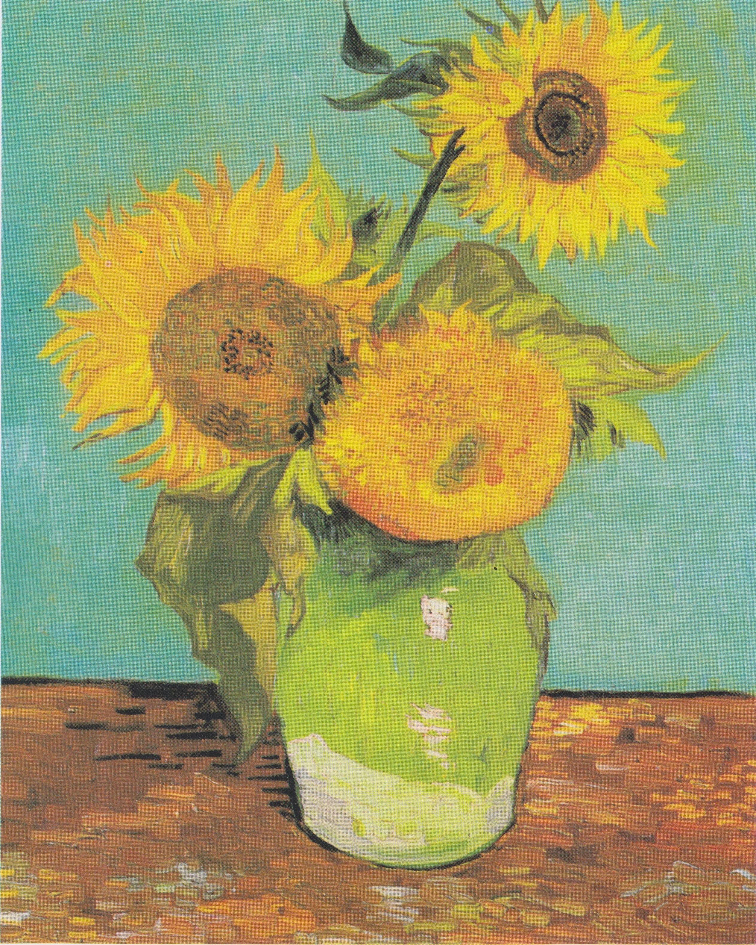 Filevan Gogh Drei Sonnenblumen In Einer Vasejpeg Wikimedia Commons