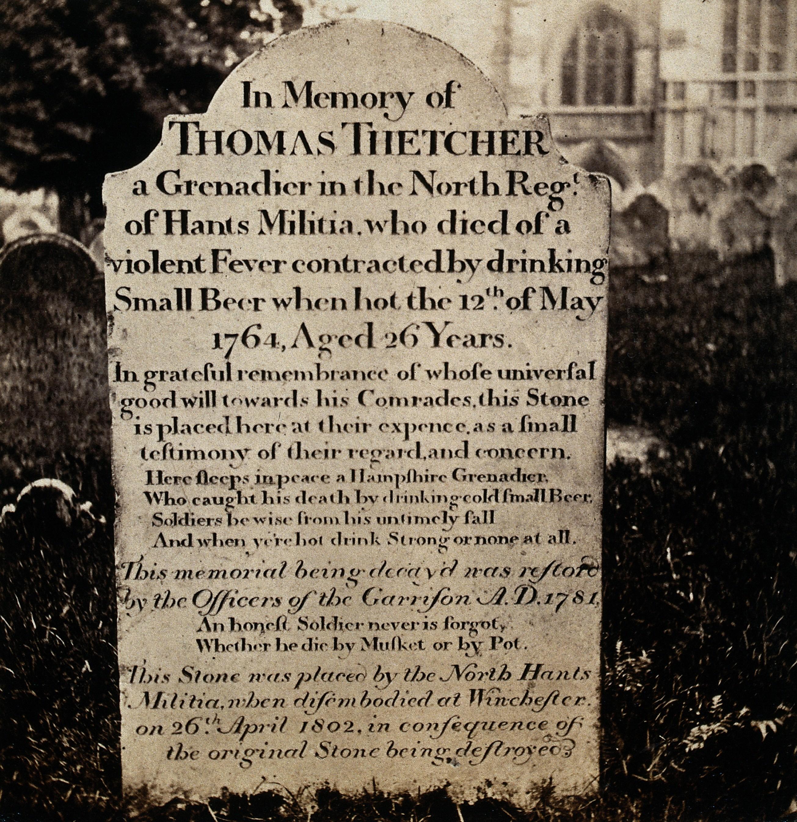 Thomas Thetcher Gravestone