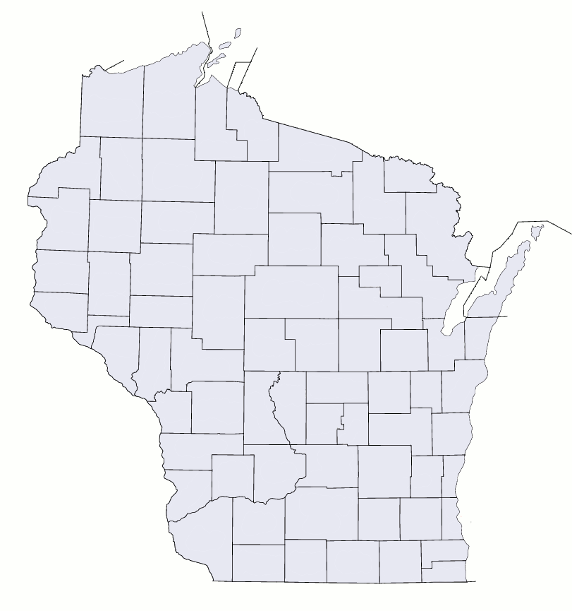 File Wisconsin Counties Blank Map Png Wikimedia Commons