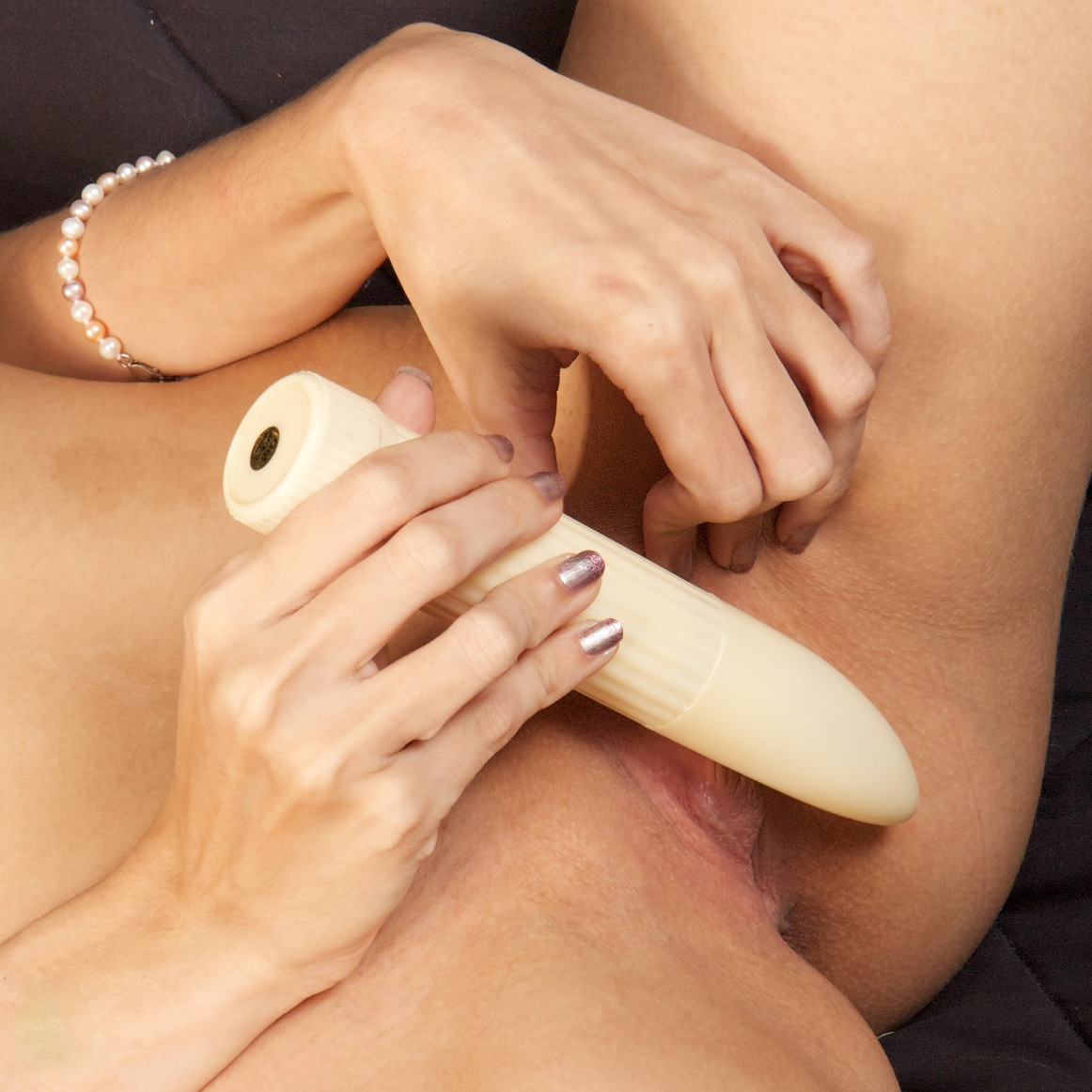 Use of vibrator on clitoris