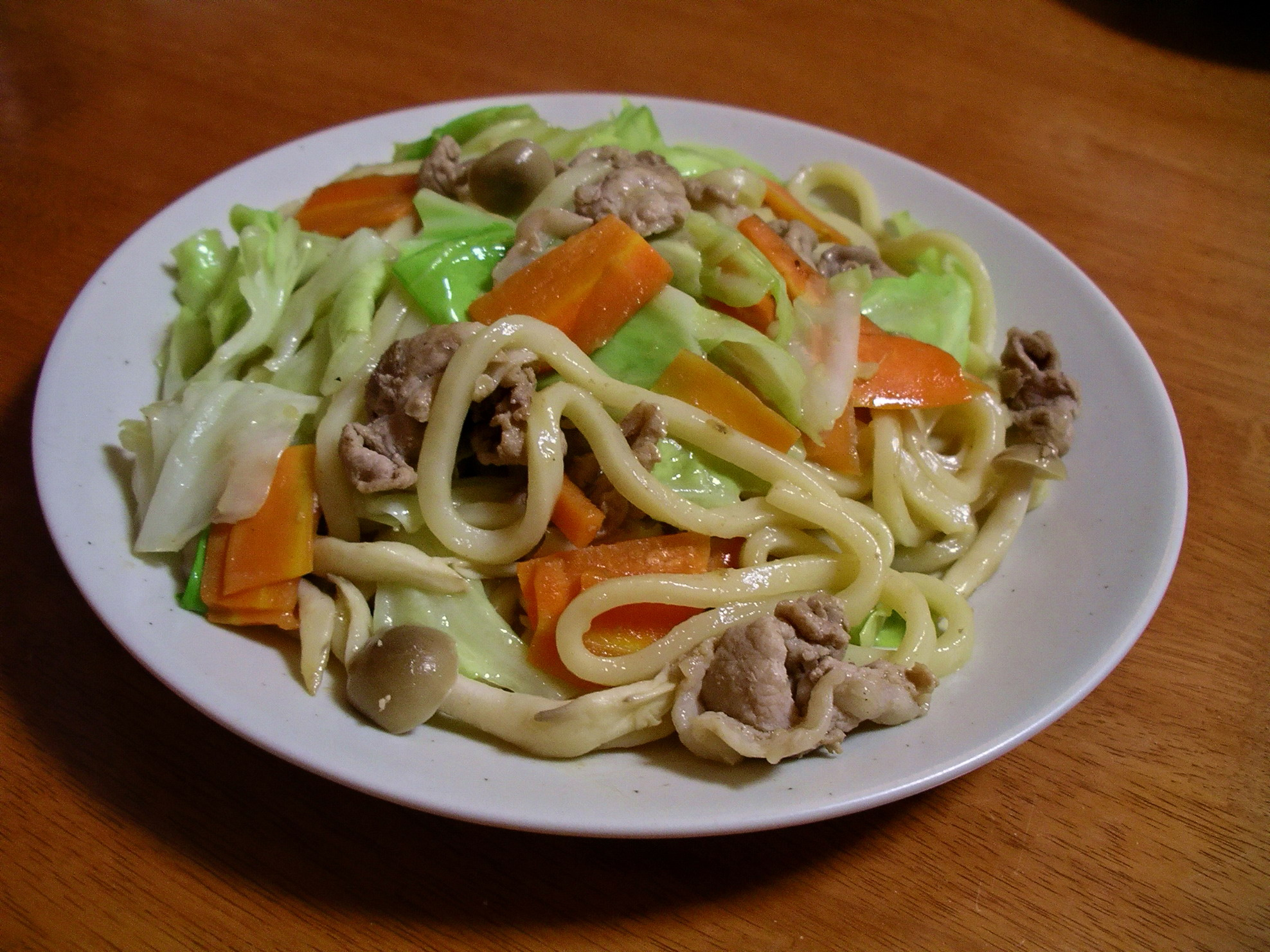 udon yaki udon yaki udon noodles yaki udon the udon noodles were stir ...