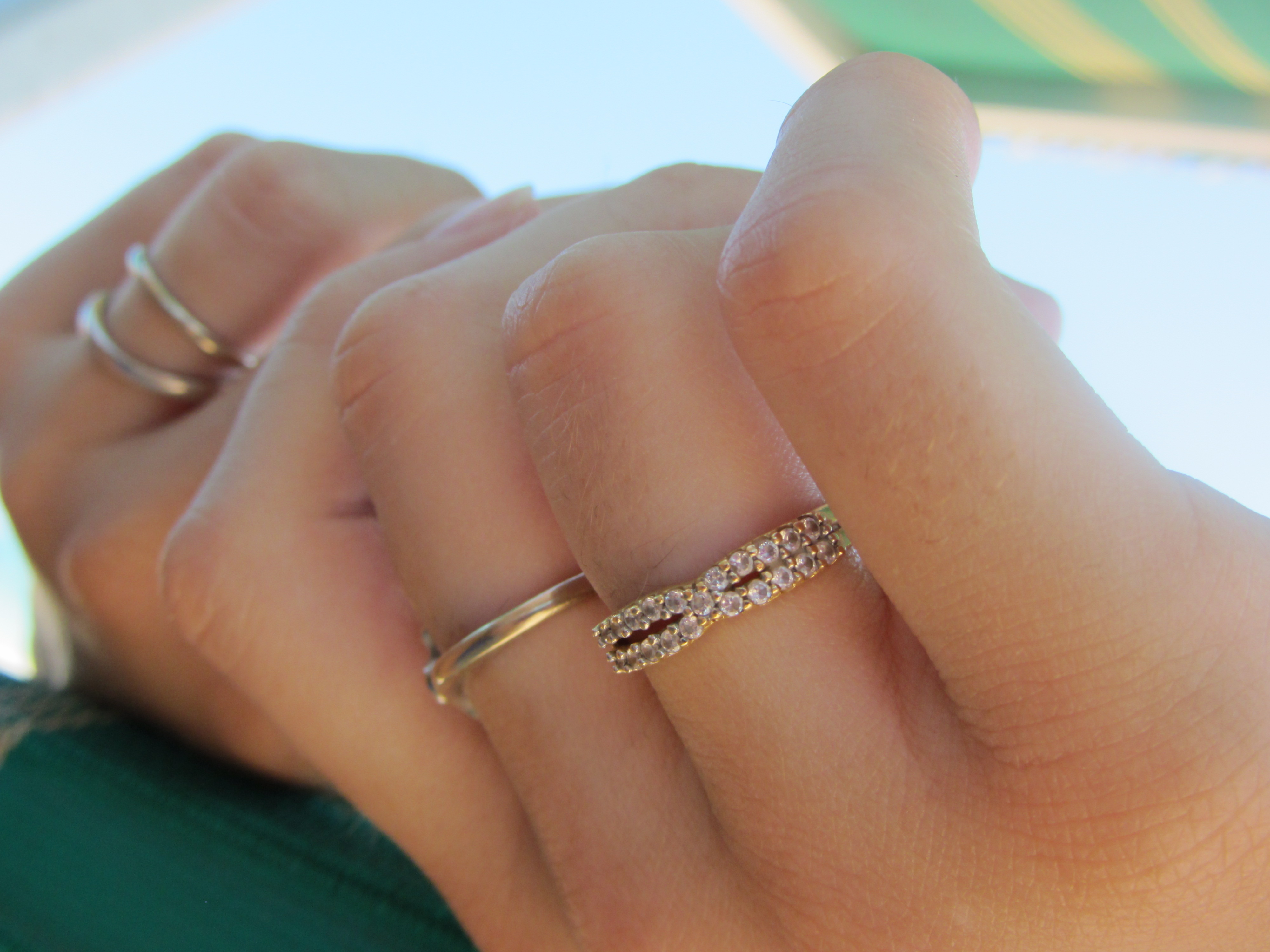 File 12 Italy Gold Ring Handmade In Hand Female