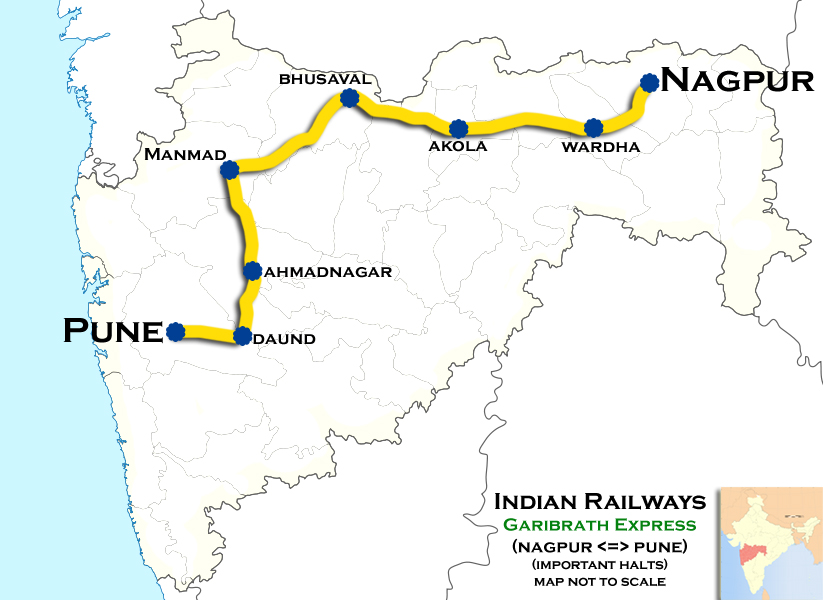 Pune - Ajni AC Superfast Express - Wikipedia Including Map Of Pune India on map of nainital india, map of kolhapur india, map of shimoga india, map of meghalaya india, map of warangal india, map of bay of bengal india, map of rajkot india, map of agra india, map of hardoi india, map of kutch india, map of kollam india, map of kerala india, map of akola india, map of guntur india, map of mumbai india, map of chennai india, map of daman india, map of gorakhpur india, map of nellore india, map of kanpur india,