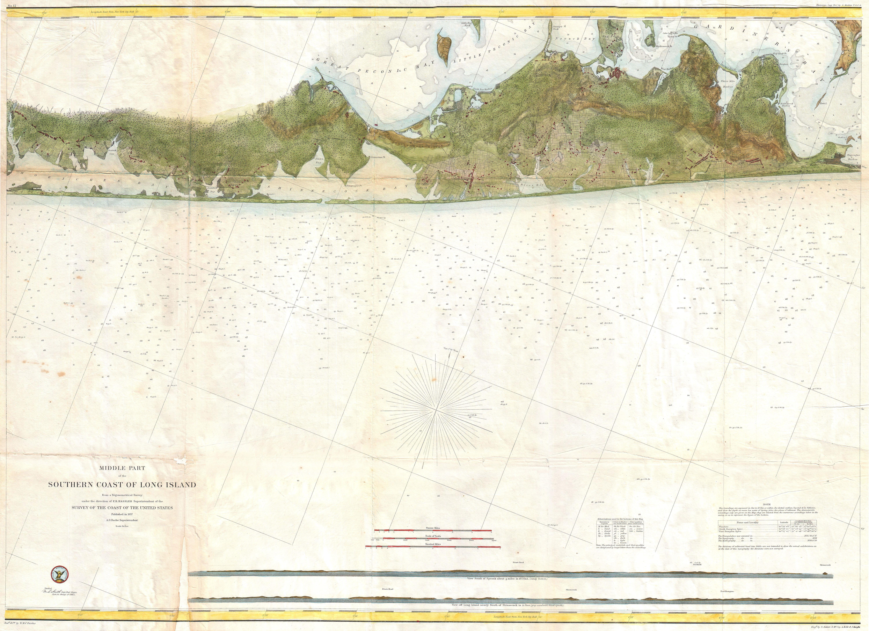 File US Coast Survey Map Of Eastern Long Island Hamptons - Map of southern us coast