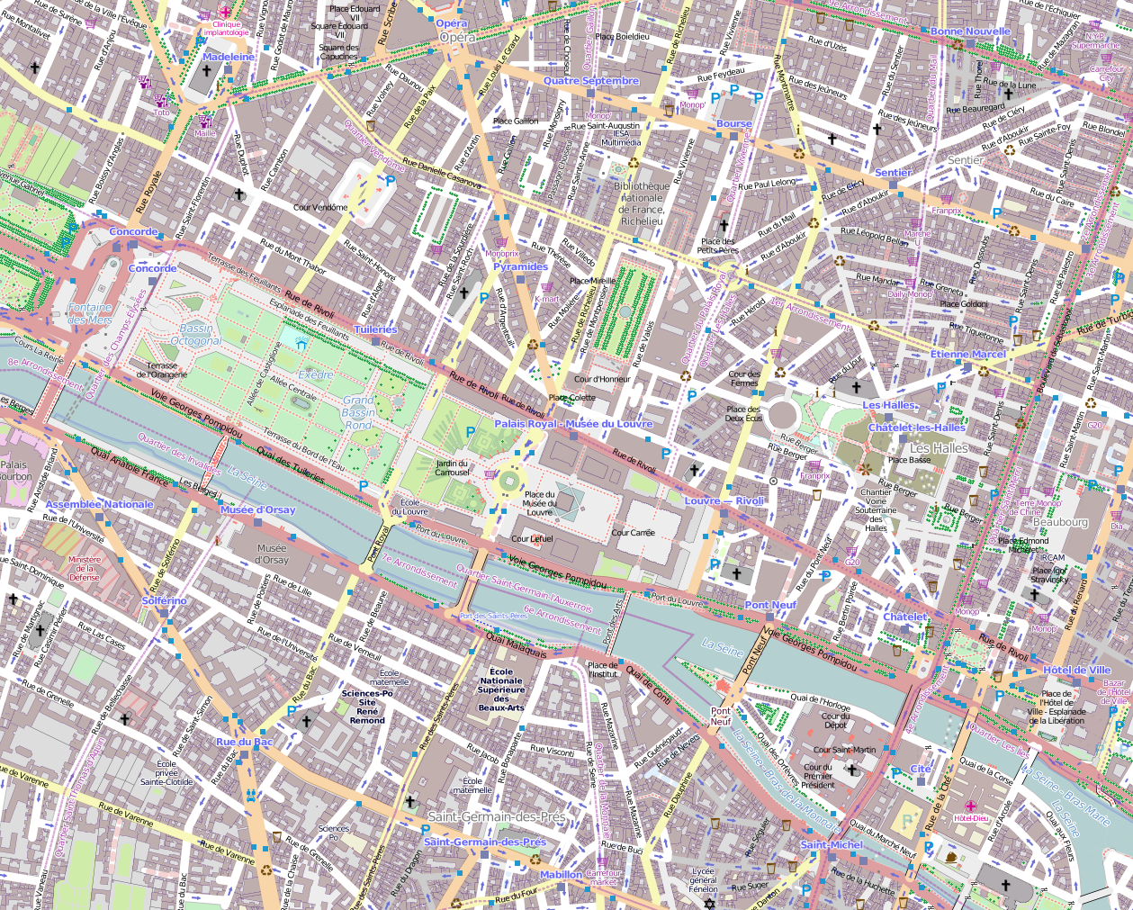 File1er Arrondissement Paris France Open Street Mappng – Streetmap France