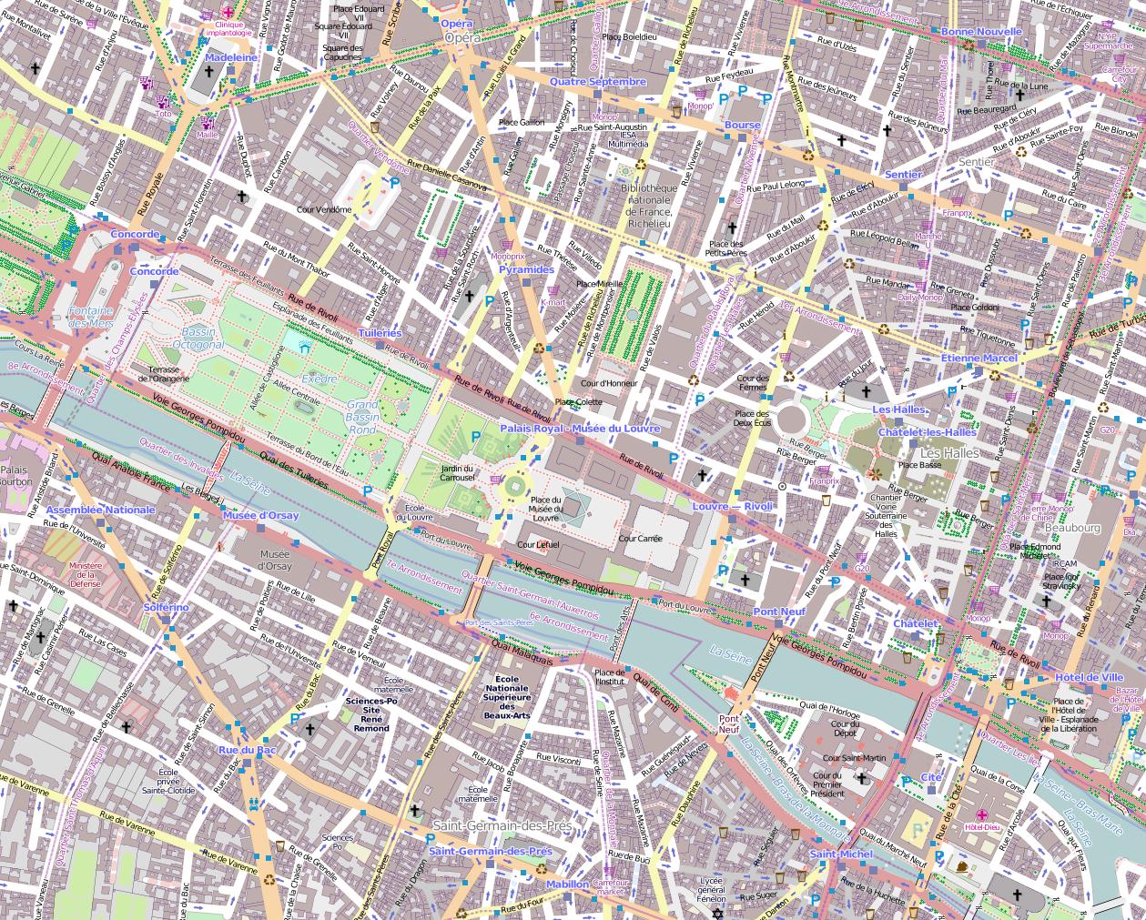 Old paris street map royalty free stock photo image 15885665 - Paris Street Plan File