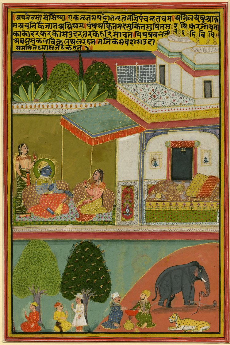 2 Jestha (may-june). Barahmasa series. Jaipur, ca. 1800, British Museum.jpg