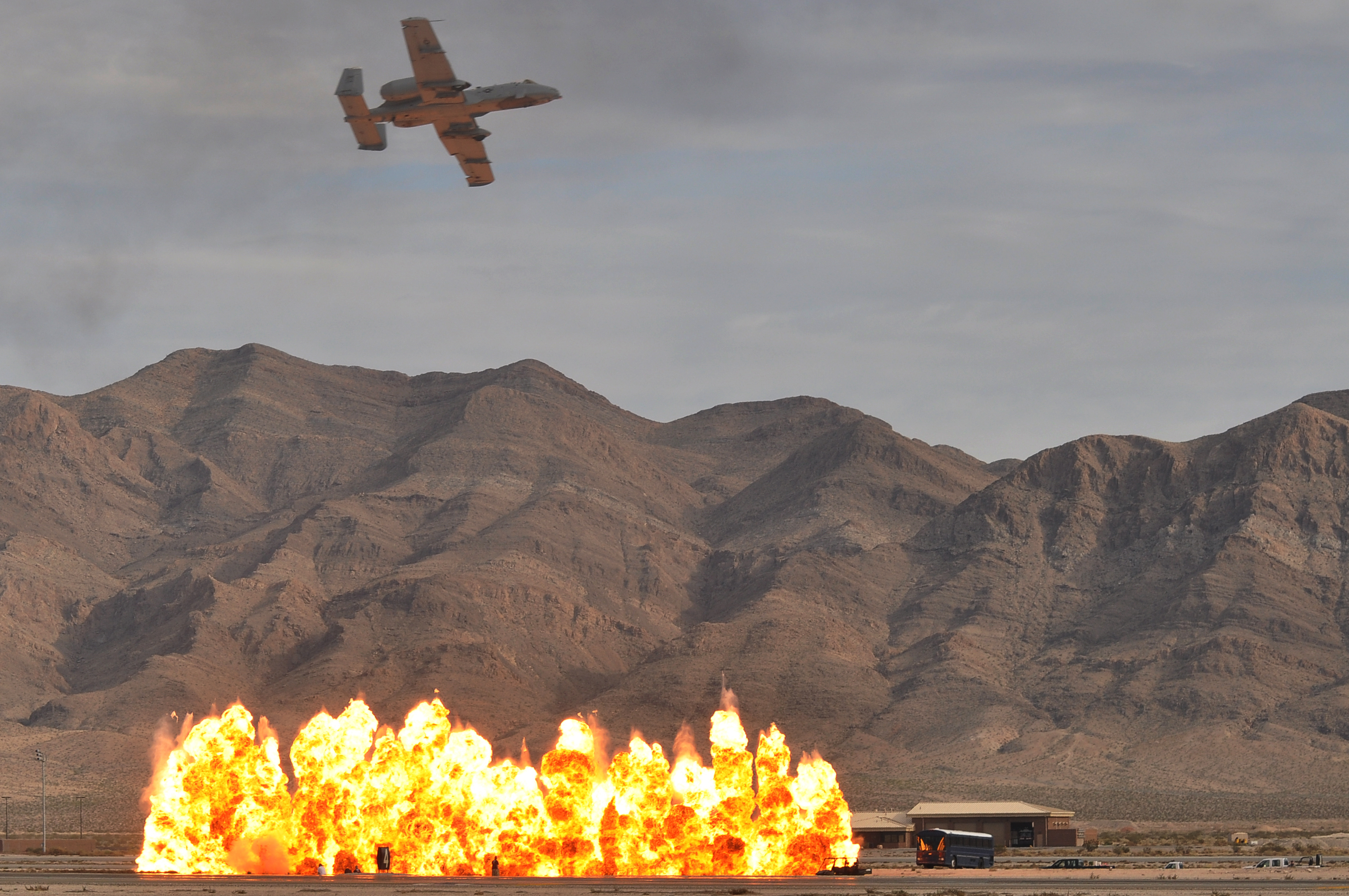 cheaper d4e0b fc74d An Air Force A-10 demonstrating close air support at Nellis AFB