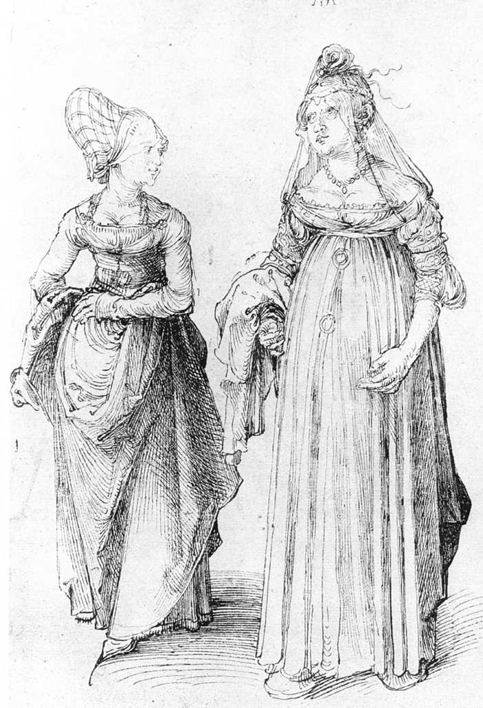 Durer's painting comparing Nuremberg Woman's dress and woman's venetian dress