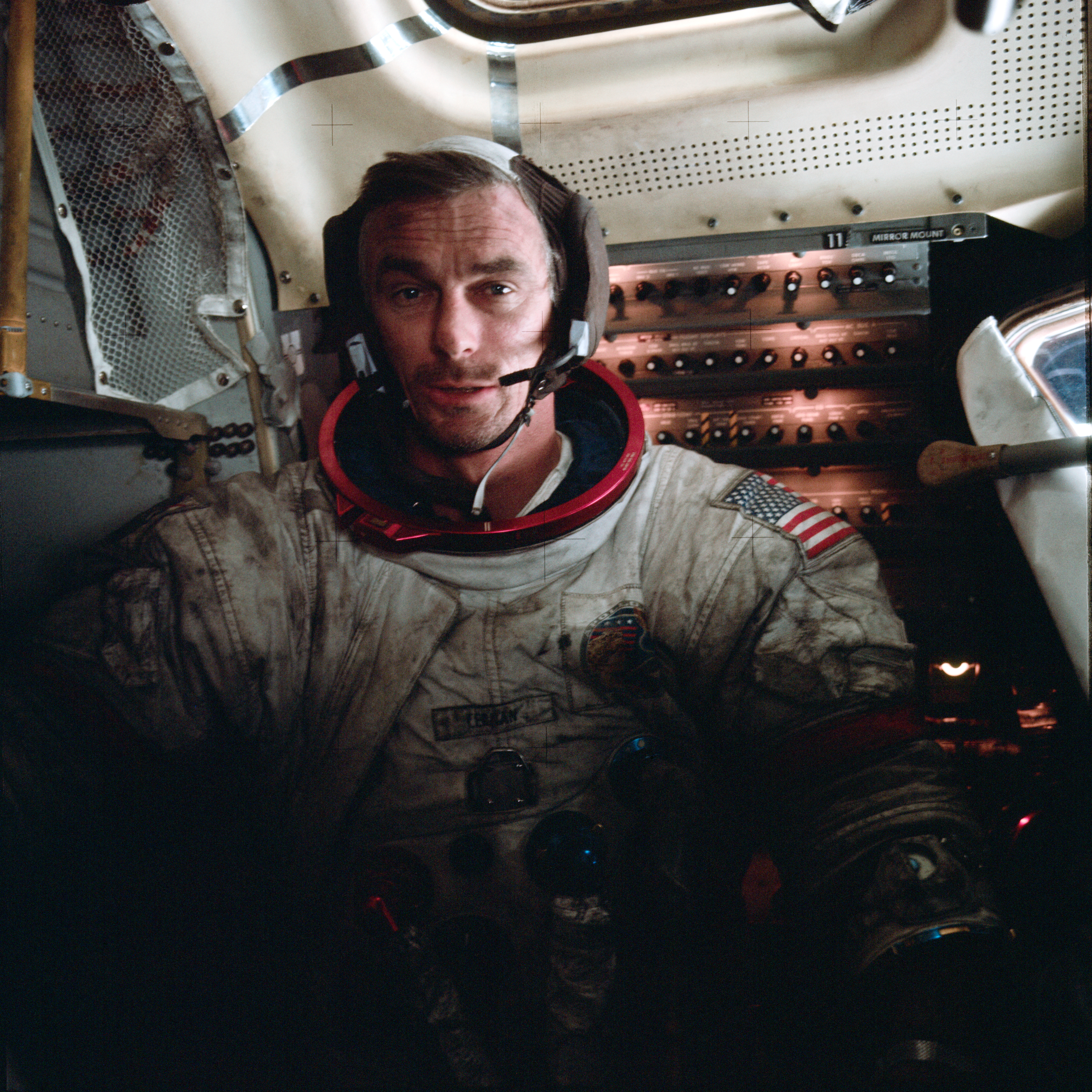 """""""Another hundred years may pass before we understand the true significance of Apollo. Lunar exploration was not the equivalent of an American pyramid, some idle monument to technology, but more of a Rosetta stone, a key to unlocking dreams as yet undreamed.""""  Eugene Cernan.   Here is a picture of him on the surface of the moon  Here is a link to a PDF copy of Wernher von Braun's The Mars Project, which was his proposal for how a crewed Mars mission should be conducted, which at one point was the goal following Apollo. As far as I am aware, this is the only copy on the internet."""