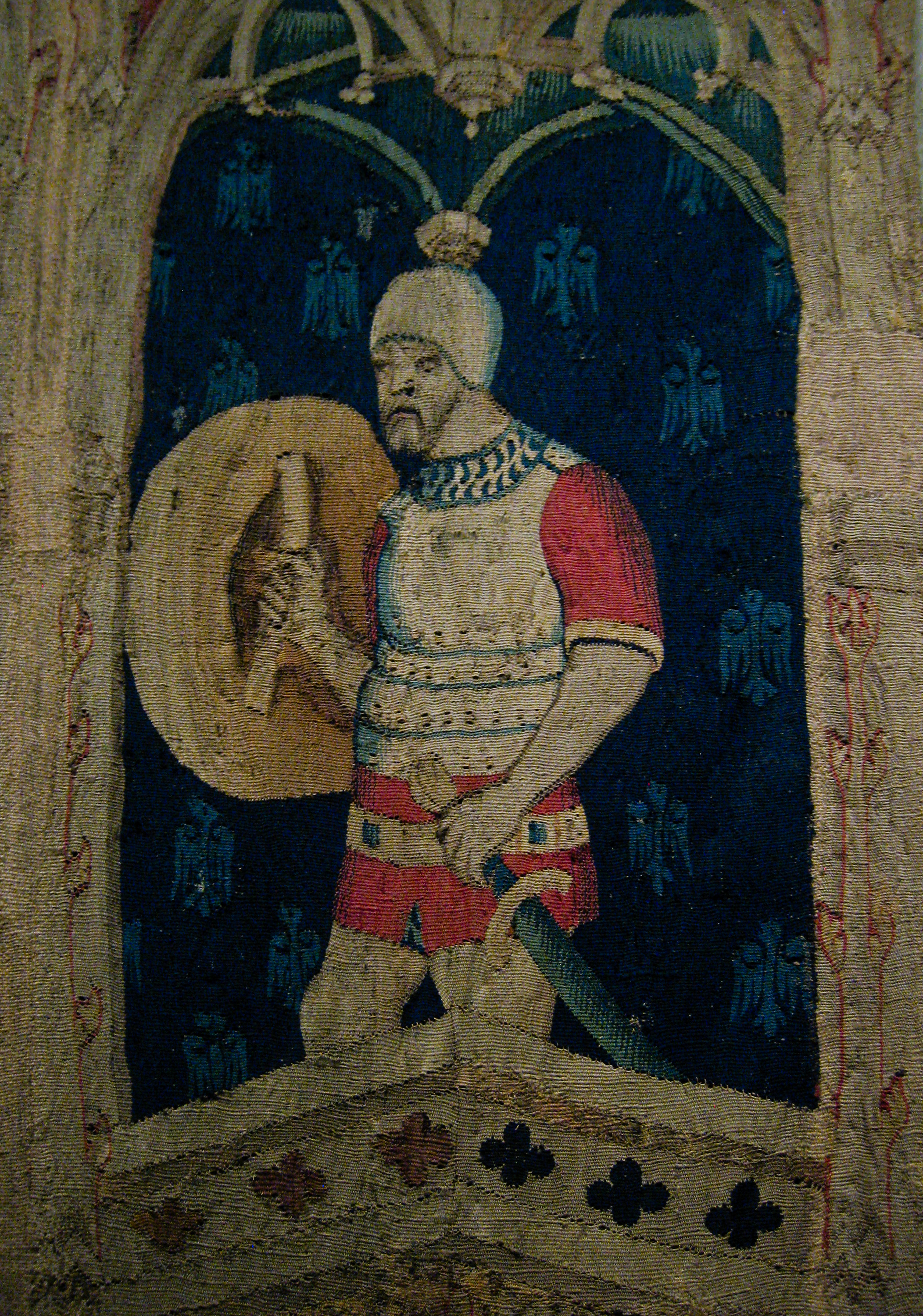 File:Alexander the Great or Hector of Troy (detail), tapestry