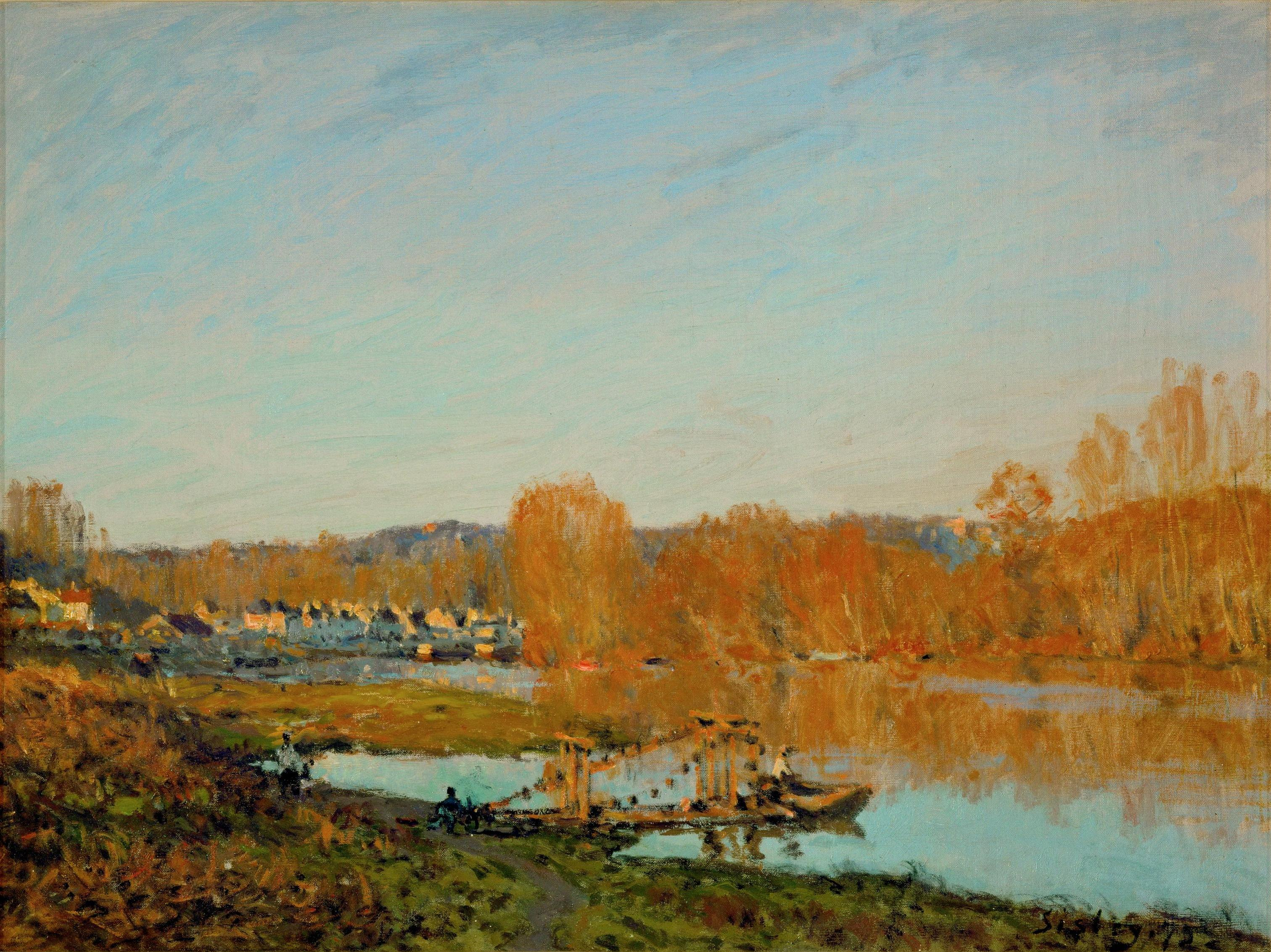 Alfred Sisley, (1839 - 1899) Alfred_Sisley,_L%27automne_-_Bords_de_la_Seine_pres_Bougival_%28Autumn_-_Banks_of_the_Seine_near_Bougival%29,_1873